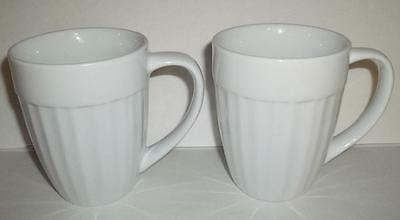 2 Corning Ware Cups - Casual China - French White - Tableware Mugs - Mint