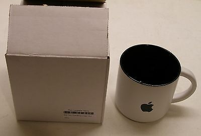 Apple Logo Mug Two-Tone White w/Black Logo Made by Apple - NEW in the Box
