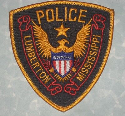 """Lumberton Mississippi Police Patch -  3 5/8"""" x 4"""""""