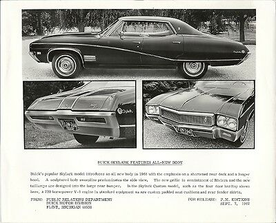 Buick Skylark Features All-New Body Period Press Photograph.
