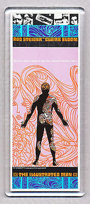 THE ILLUSTRATED MAN movie poster WIDE FRIDGE MAGNET - 60's TATTOO CULT CLASSIC!