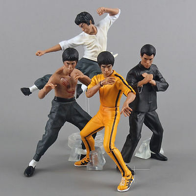 Set 4PCS Bruce Lee Kung fu Master Legend Action figures Model Toy New with Box