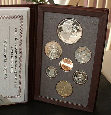 Canada  1995   Proof Double Dollar Red Set  **7 Coins**