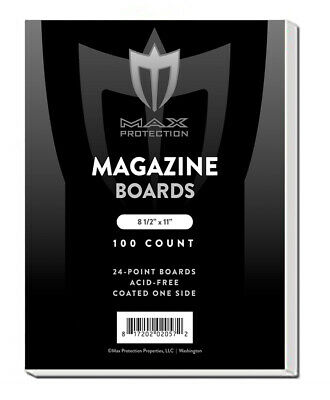 500 Max Pro Magazine 8.5x11 Document Size Acid Free White Backing Boards backer