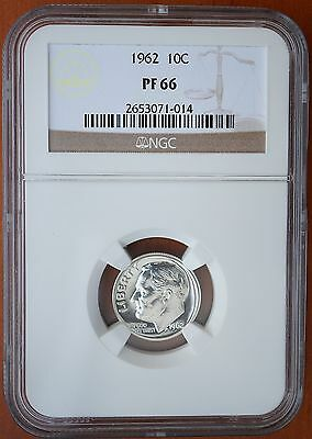 1962 US Roosevelt Silver Dime Proof Coin NGC PF66