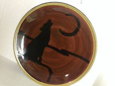 Mesa Home Products Wolf Plate Brown Plate With Wolf