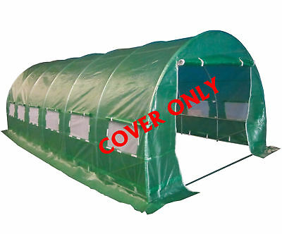 FoxHunter 6 Section Polytunnel Greenhouse Pollytunnel Tunnel Cover Only 6m x 3m