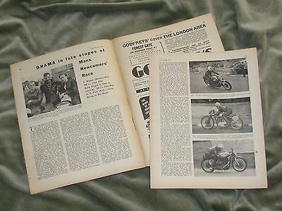 1957 Manx Newcomers' Race Report Magazine Article