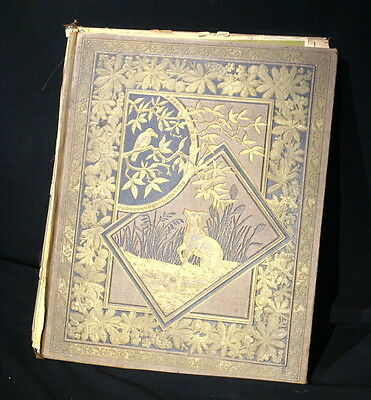 "Victorian Scrap Book W/ Various Cards, see photos below. 12"" x 15"","