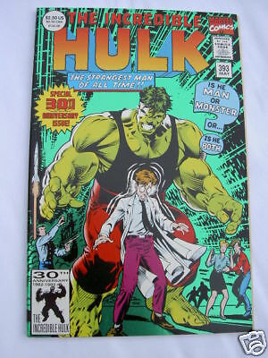 INCREDIBLE HULK # 393. 30th ANNIVERSARY SPECIAL. GREEN FOIL COVER. MARVEL. 1992