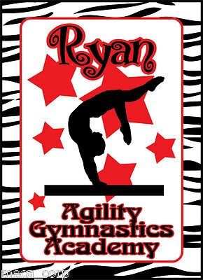 4X6 Gymnastics gymnast bragbook album personalized