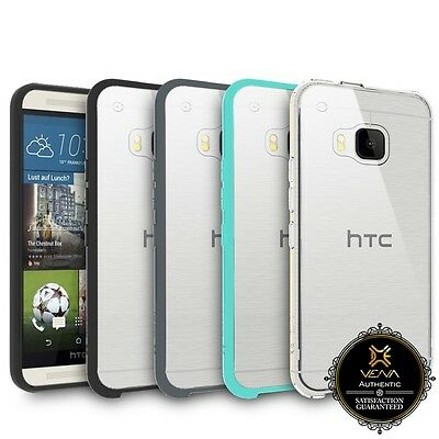 Vena Shockproof Clear Back Bumper Protective Case Cover For HTC One M9 Hima