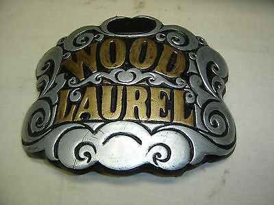 "Antique Cast Iron Wood Stove Dcorative Plate ""Wood Laurel"".     7789a"