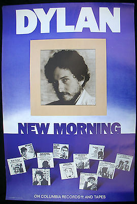 BOB DYLAN New Morning 1970 US ORG Promo Only POSTER Minty! VINTAGE