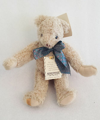 """Teddy Bear 10"""" Stuffed Toy Jointed Merrythought Limited Edition 85/500"""