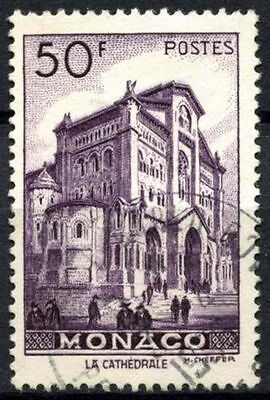 Monaco 1949-1959 SG#402, 50f The Cathedral Used #A84223