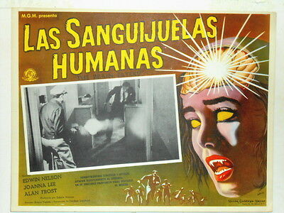 The Brain Eaters Lobby Card Poster Riverdale Illinois Horror Sci Fi  1958
