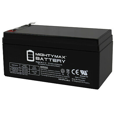 Mighty Max 12V 3.4Ah Replaces Black  Decker CST1200 Trimmer 12V Charger