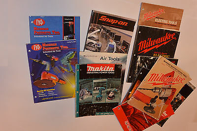 13 Industrial Power Tool Catalogs! 7 Milwaukee/makita/snap-On/c-P! Air+Electric!