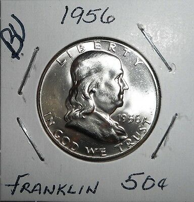 1956-P 90% SILVER BU FRANKLIN HALF DOLLAR COIN COLLECTION LOT LT1930