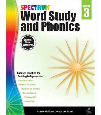 Spectrum Word Study and Phonics, Grade 3 by Paperback Book (English)