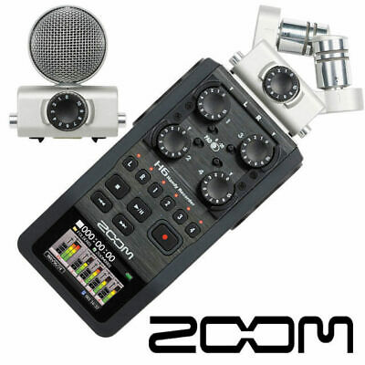 Zoom H6 Portable 6 Track digital audio Recorder 24 bit hand held multi track