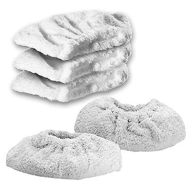 KARCHER K1105 Steam Cleaner Terry Cloth Cover Pads Hand Tool Cleaning Pad x 5