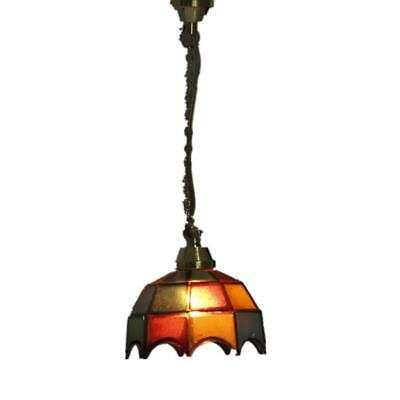 Dollhouse Miniature Vintage COLORED SHADE Hanging Lamp Ceiling Light 12V