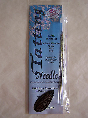 Yarn Tatting Needles 3pc NEW #7, #5, #3