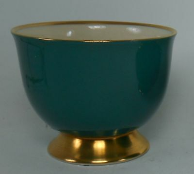 FLINTRIDGE china SYLVAN TEAL GREEN pattern Egg Cup @ 2-1/2""