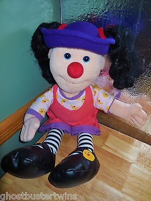 """RaRe LOONETTE CLOWN 20"""" SOFT PLUSH FIGURE DOLL BIG COMFY COUCH TV CHARACTER"""