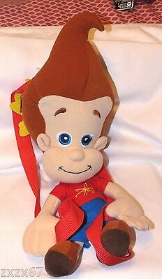"""NEW WITH TAGS  JIMMY NEUTRON PLUSH  BACKPACKS  18/"""" NICKOLODEON"""