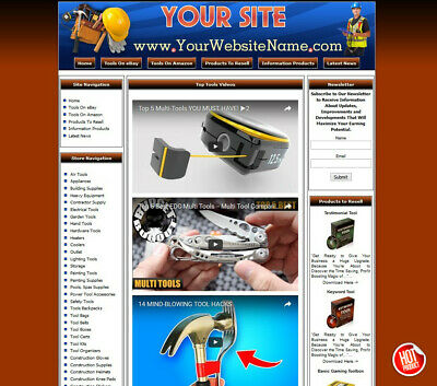 TOOLS STORE Complete, Ready Made Affiliate Website  Amazon+Google+Clickbank+EPN