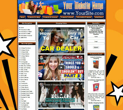 AMAZON STORE - Complete, Ready Made Affiliate Website - Google Adsense+Dropship