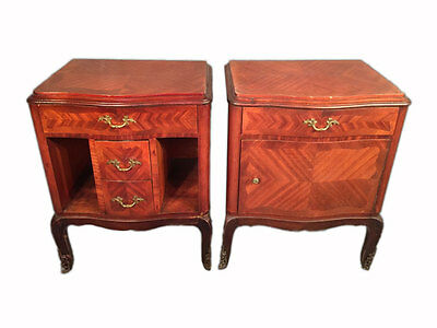 Pair of Antique French Louis XV Style Nightstands - 9447