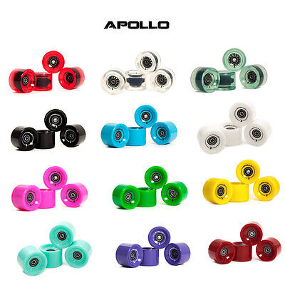 4er Set APOLLO Longboard Rollen 70mm x 50mm 78A & ABEC 7 Lager Kugellager 12099