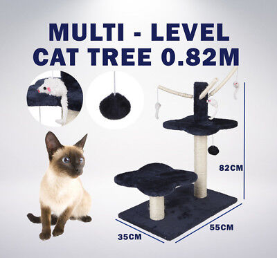 New 3 Layers Cat Scratching Post Tree Scratchier Pole Furniture Gym House Toys
