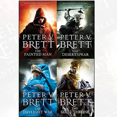 Peter V. Brett Collection The Demon Cycle Series 4 Book Set,The Skull Throne New