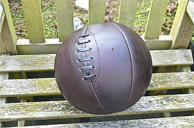 Vintage Style Brown Leather Basketball Laced Real Leather Retro Basket Ball Ind