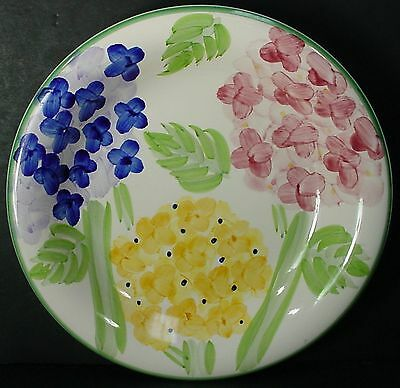 """TABLETOPS UNLIMITED china HYDRANGEA GARDEN pattern SALAD PLATE - Set of 2 - 8"""""""