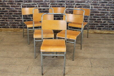 Retro Industrial Remploy Stacking Chairs Large Quantity Available