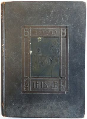 "1920 Carnegie Tech ""The Thistle"" Yearbook w/ Honus Wagner"