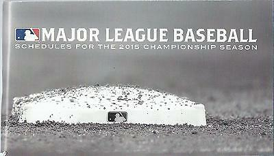 2015 Major League Baseball Schedule Book American + National League All Games