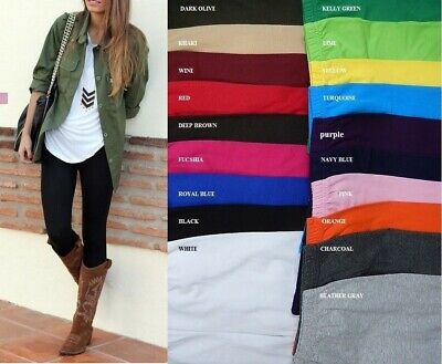 Women Cotton Spandex Ankle Length Leggings Slim Pants Yoga S-5X 23 Colors Usa