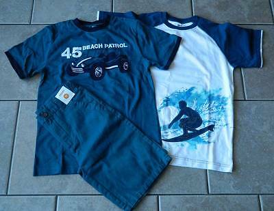 Size 12 years outfit Gymboree,3 pc. set,shorts,T-shirts,NWT,surfer