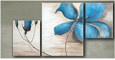 MODERN ABSTRACT HUGE WALL ART OIL PAINTING ON CANVAS 3PC(No Frame)