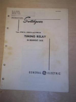 Vtg GE General Electric Manual~Timing Relay RPM 11 A B 13A~1948