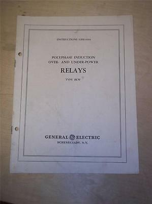 Vtg GE General Electric Manual~Polyphase Induction Relays 1KW~1939