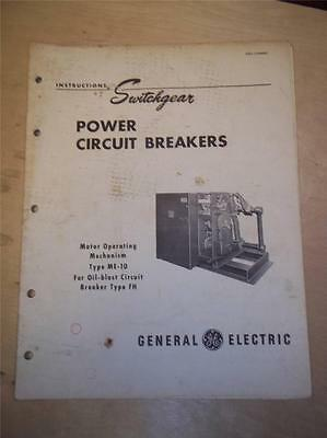Vtg GE General Electric Manual~Switchgear Power Circuit Breaker ME10 FH~1950