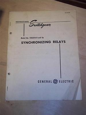 Vtg GE General Electric Manual~Synchronizing Relays 12GES11C11~Switchgear 1948
